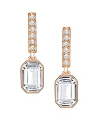 Swarovski Crystal Linear Earrings Rose Gold