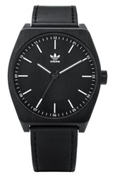 Adidas Process Leather Strap Watch 38Mm Black White