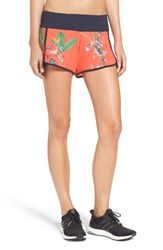 Ted Baker Women's London Tropical Oasis Shorts Mid Red