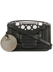 Pierre Hardy Studded Foldover Shoulder Bag Black