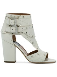 Laurence Dacade Star Stud Rush 90 Sandals Leather Calf Leather White