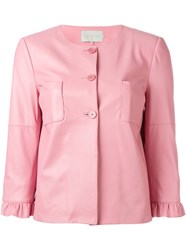 L'autre Chose Three Quarter Sleeve Jacket Pink Purple
