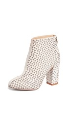 Charlotte Olympia Sparkling Star Booties Antique White