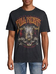 Affliction Professional Bull Riders Cotton Tee Black Lava