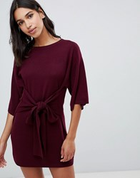 Ted Baker Says Relax Tie Front Knitted Tunic Dk Red