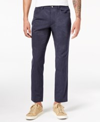 Inc International Concepts Men's Slim Fit Pinstripe Pants Created For Macy's Navy