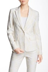 Pink Tartan Lace Fleet Jacket White