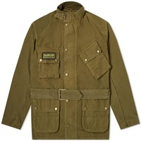 Barbour International Summer Washed A7 Casual Jacket Green