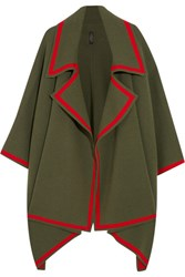 Burberry Prorsum Wool And Cashmere Blend Cape Army Green