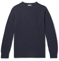 Margaret Howell Merino Wool And Cashmere Blend Sweater Navy
