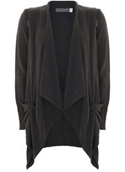 Mint Velvet Carbon Draped Front Cardigan Grey
