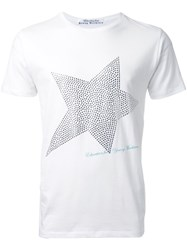 Education From Youngmachines Star Print T Shirt White