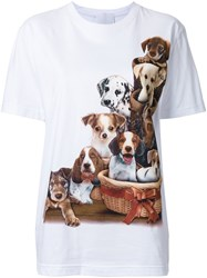 Wall Dog Print T Shirt White