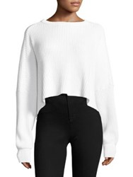 Free People Festival Pier Pullover Slouch Sweater White