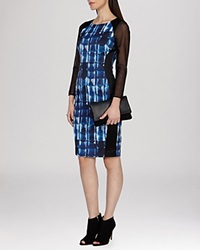 Karen Millen Dress Graphic Mark Making Print Stretch Signature