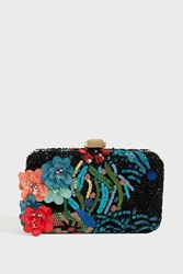 Elie Saab Embellished Flower Clutch