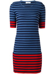 Sonia Rykiel Striped Knit Dress Blue