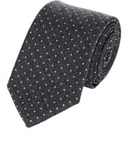 Ralph Lauren Black Label Men's Polka Dot Necktie Grey