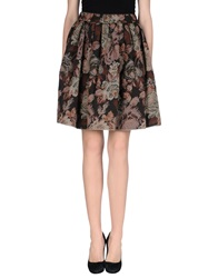 Noshua Knee Length Skirts Dark Brown
