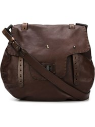 Henry Beguelin Foldover Top Shoulder Bag Brown