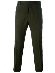 Marni Cropped Straight Leg Trousers Green