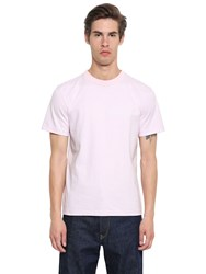 Calvin Klein 205W39nyc Embroidered Heavy Cotton Jersey T Shirt Blush