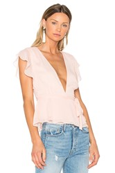 Lovers Friends X Revolve Butterfly Blouse Blush