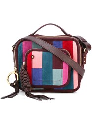 See By Chloe Patchwork Patti Camera Crossbody Bag Red