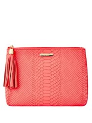 Gigi New York All In One Leather Clutch Orange