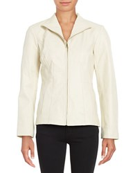 Cole Haan Long Sleeve Wing Collar Jacket White