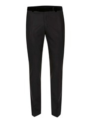 Topman Noose And Monkey Black Contrast Velvet Suit Pants
