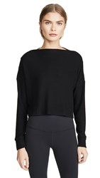 Beyond Yoga Your Line Buttoned Boxy Pullover Black