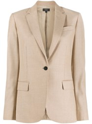 Theory Single Breasted Blazer Neutrals