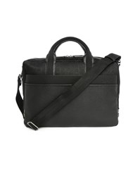 Calvin Klein Black Pu Canvas Briefcase