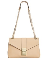 Calvin Klein Envelope Turn Lock Crossbody Nude