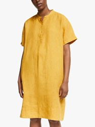 Eileen Fisher Linen Shift Dress Marigold