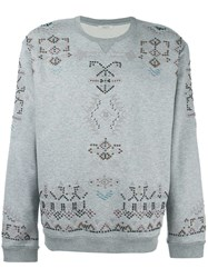 Valentino Studded Sweatshirt Grey