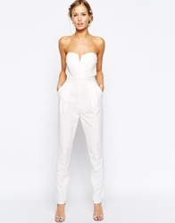 Tfnc Tailored Jumpsuit With Tie Waistband Cream