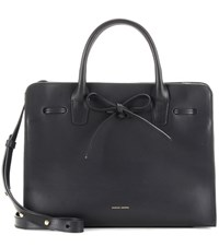 Mansur Gavriel Sun Leather Tote Black