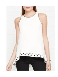 Whistles Eyelet Sleeveless Top Ivory