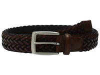 Torino Leather Co. 35Mm Italian Braided Rayon With Calf Inlay Black Brown Men's Belts