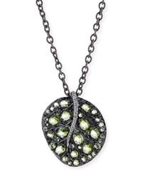 Botanical Leaf Peridot Pendant Necklace Michael Aram Red