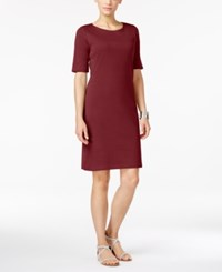 Karen Scott Petite T Shirt Dress Only At Macy's Garnet