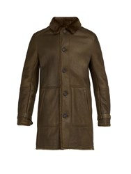 Yves Salomon Reversible Shearling Coat Khaki