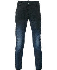 Dsquared Tidy Biker Jeans Blue White Off White