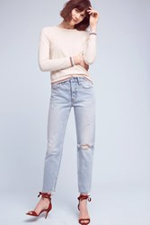 Anthropologie Levi's Wedgie Icon High Rise Jeans Denim Light
