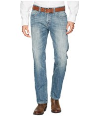 Rock And Roll Cowboy Revolver Slim Denim With Stitches In Light Vintage M1r6617 Light Vintage Jeans Blue