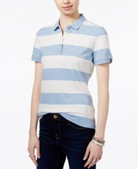 Tommy Hilfiger Striped Polo Top Only At Macy's Blue Ivy