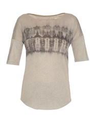 Raquel Allegra Dropped Shoulder Tie Dye T Shirt