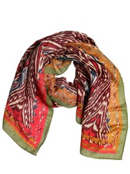 Etro Psychedelic Printed Linen And Silk Scarf
